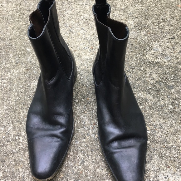9a86f7f8c94 GUCCI CHELSEA BOOTS MENS SIZE 10D BLACK LEATHER